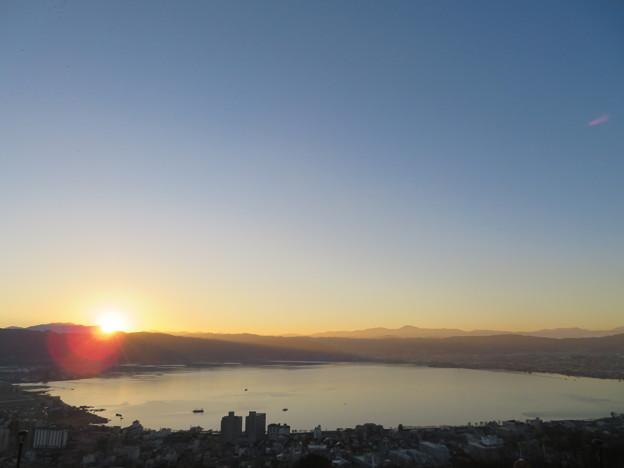 諏訪湖(日没前)