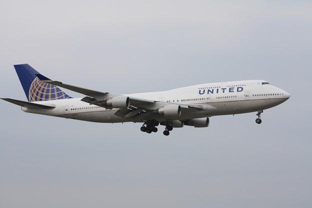 ユナイデッド航空 ボーイング747-400 N181UA (1)