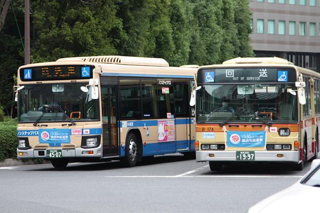 横浜市営バス6-3470号車・神奈川中央交通お174号車