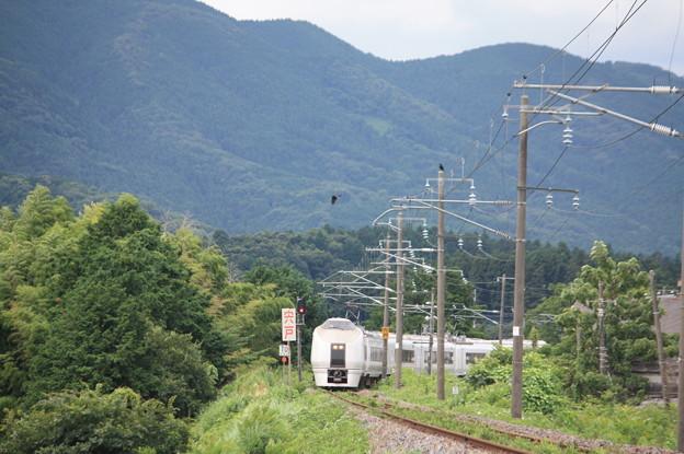 651系と山