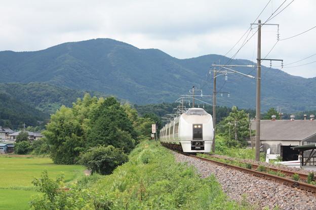 651系と山 (1)