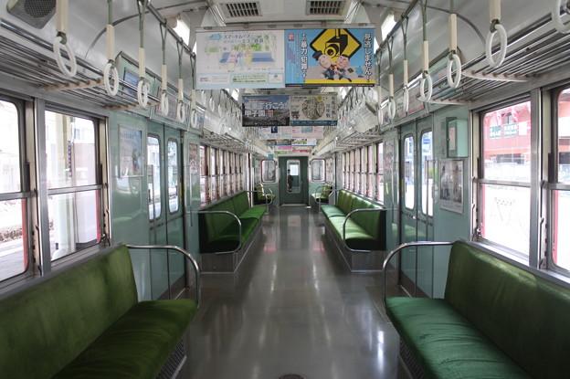 神戸電鉄1000系の車内