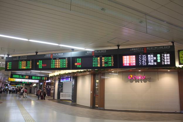 上野駅 発車案内表示