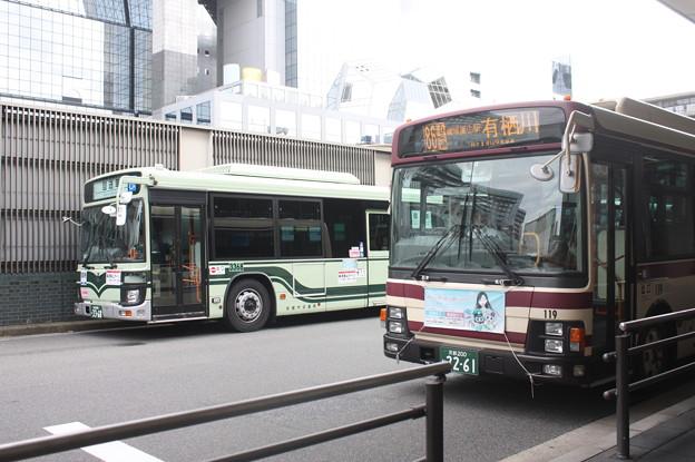 京都市営バス3368号車・京都バス119号車