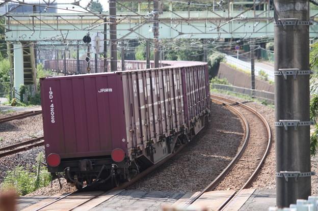 コンテナ貨物列車 後追い