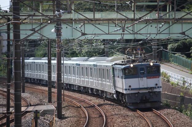 8860レ 東京メトロ13000系甲種輸送 EF65 2081牽引 (4)
