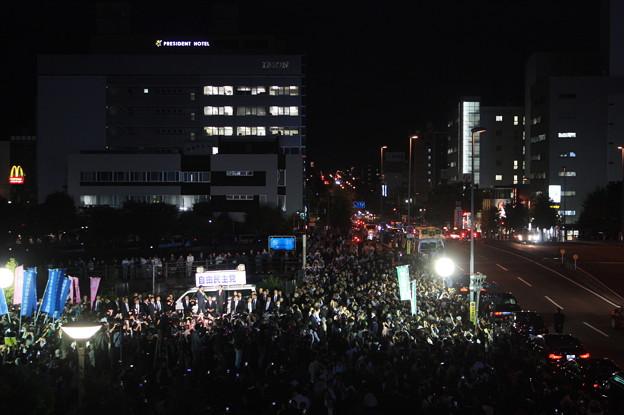 水戸駅南口で行われた安倍首相の街頭演説 (2)