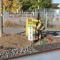 写真: 踏切標識