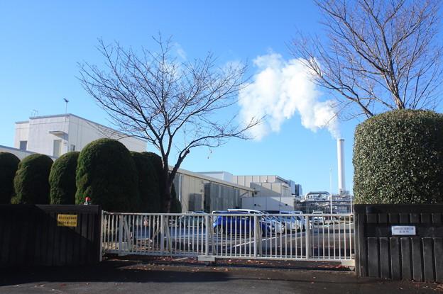 工場から出た煙