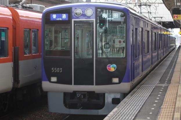 阪神本線 5500系5503F リニュアール車 普通 阪神梅田 行
