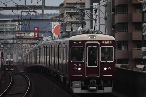 阪急宝塚線 7000系7015F 通勤特急 阪急梅田 行