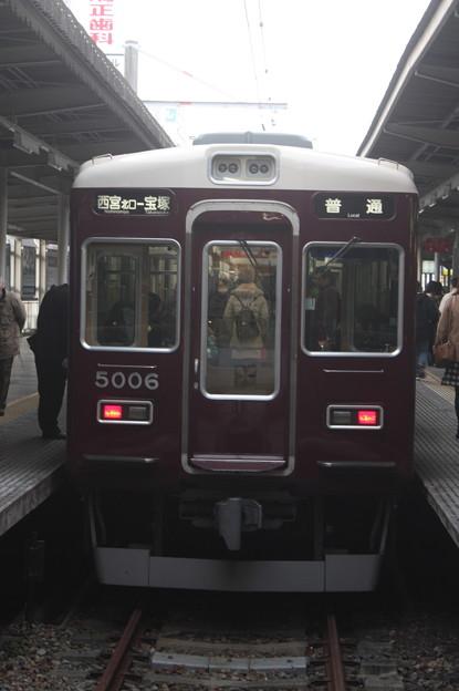阪急今津線 5000系5006F 普通 宝塚 行 (1)