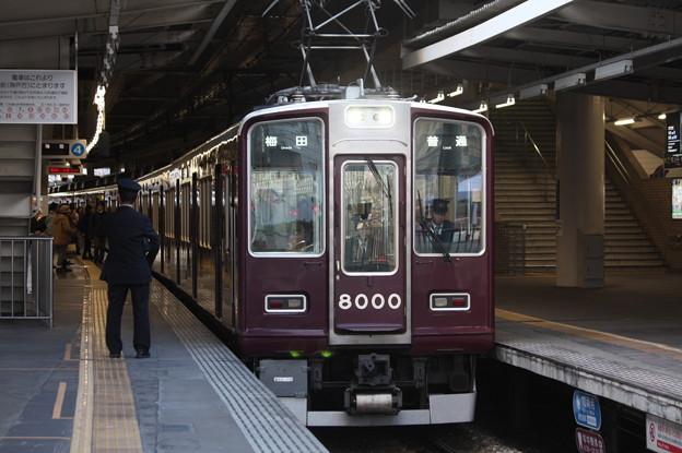 阪急神戸線 8000系8000F 普通 阪急梅田 行
