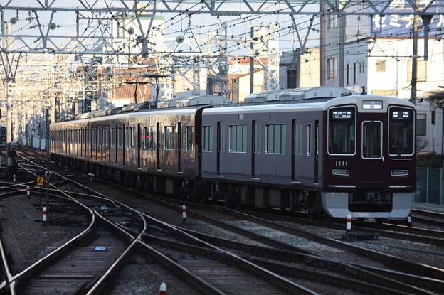 阪急神戸線 1000系1011F 普通 阪急神戸三宮 行 (1)