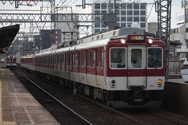 近鉄奈良線 8000系8901F 急行 近鉄奈良 行