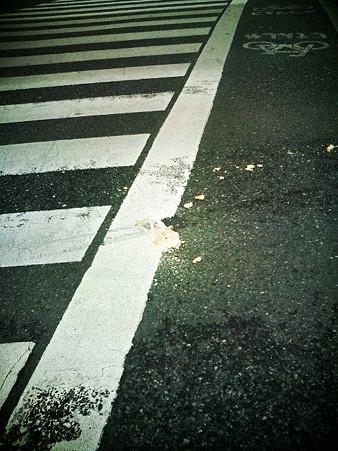 メロンパンの交通事故現場