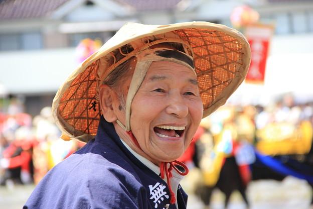 写真: 満面の笑顔