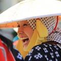 写真: 会心の笑み