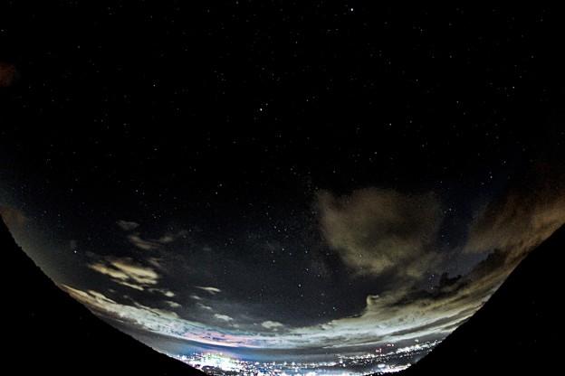小諸夜景と夜空_4