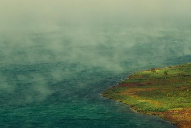 写真: 野反湖の秋2