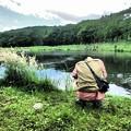 釣り人の背中