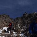 写真: 赤岳からの下り