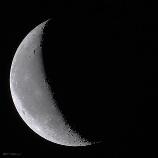 写真: 2017.08/17早朝の月