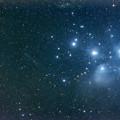 写真: M45 プレアデス星団とC/2015 ER61 パンスターズ彗星20170823