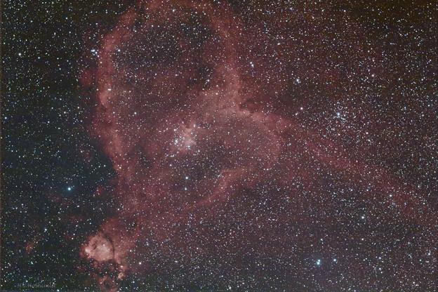写真: IC1805 ハート星雲 20170918