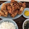 写真: 唐揚げ定食