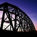 写真: -黄昏の鉄橋-