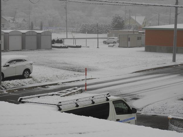 とうとう積雪!