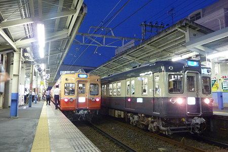 京成 赤電・青電すれ違い お花茶屋駅