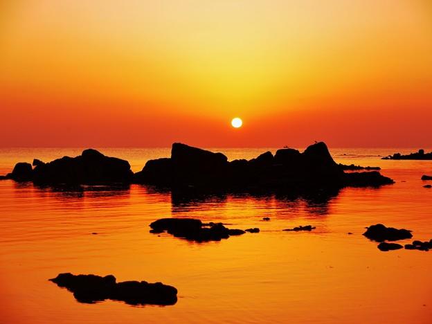 落日 日本海