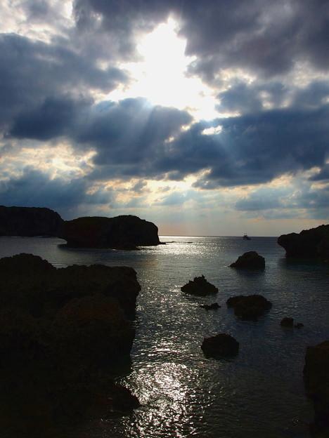 天使の梯子が宮古島にも降りてきました^^