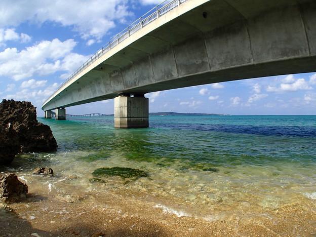 日本最長の橋、伊良部大橋なのです^^