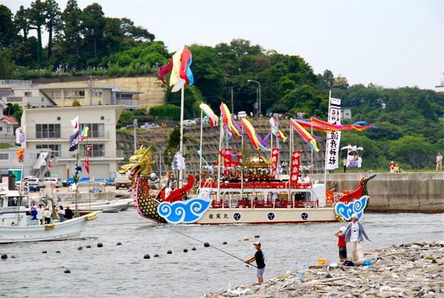 神輿海上渡御 龍鳳丸(志波彦神社)