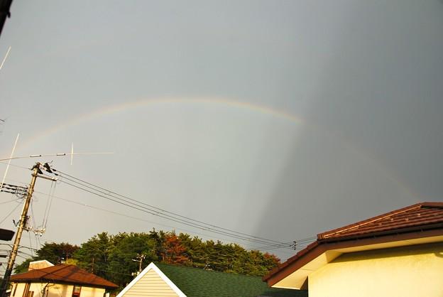 虹にかかる影