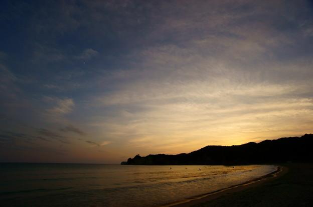 夕暮れのビーチ