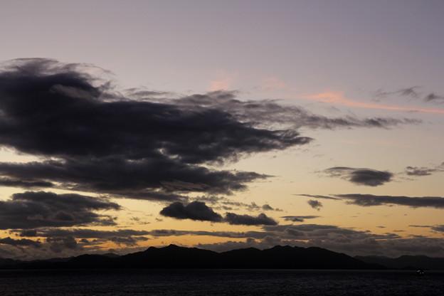 台風一過の雲