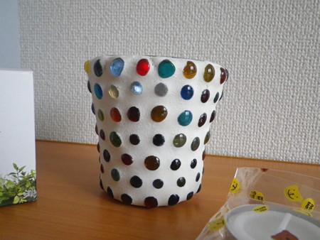 ガラス玉 キャンドルフォルダー