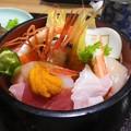松島で海鮮丼 with 牛タン
