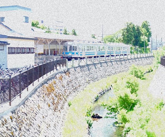 川風を感じる駅