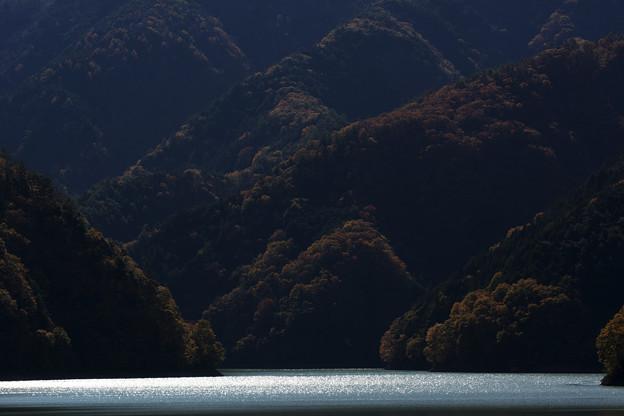 写真: 対岸の紅葉
