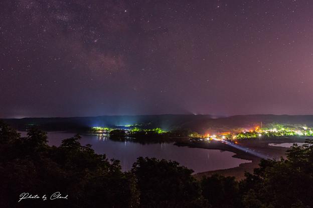 塘路湖の夜景