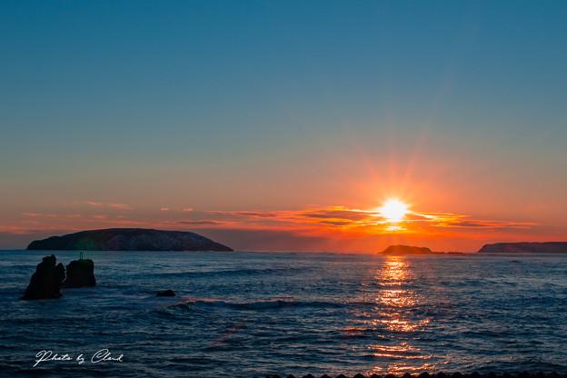 末広の夕陽