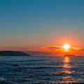 写真: 末広の夕陽