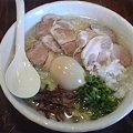 Photos: 山嵐 白スープ+味玉+チャーシュー+大盛り