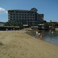 写真: 住吉神社裏の砂浜
