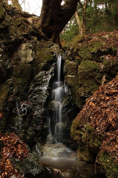 不動滝の下流の滝